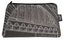 Pencil Case 18x10cm Flinders Clocks Black