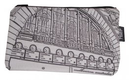 Pencil Case 18x10cm Flinders Street Clocks White
