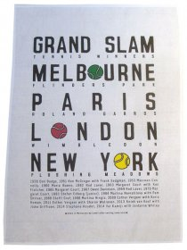 Tea Towel 50x70cm Linen/Cotton Tennis Grand Slam