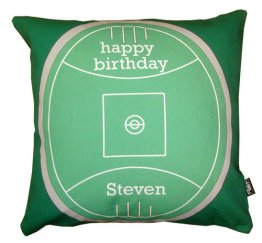 Cushion Personalised Happy Birthday Football Field