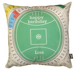 Cushion Personalised Happy Birthday Football Field Seating