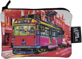 Ipod / Coin Case 13x9cm Chapel Street Tram Red