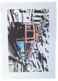 Tea Towel 50x70cm Linen/Cotton Lucky Tram