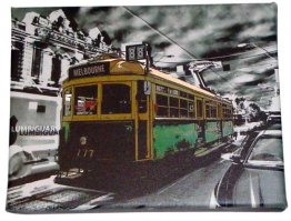 Art Canvas 20x25cm Lucky Tram