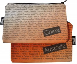 My Two Worlds Pencil Case 18x10cm Australia & China