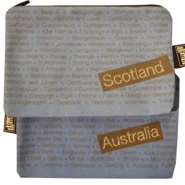 My Two Worlds Pencil Case 18x10cm Australia & Scotland