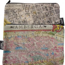 My Two Worlds Pencil Case 18x10cm Melbourne & Amberg Maps