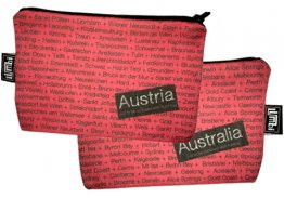 My Two Worlds Pencil Case 18x10cm Australia & Austria
