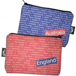 My Two Worlds Pencil Case 18x10cm Australia & England RWB