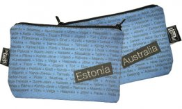 My Two Worlds Pencil Case 18x10cm Australia & Estonia