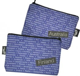 My Two Worlds Pencil Case 18x10cm Australia & Finland