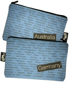 My Two Worlds Pencil Case 18x10cm Australia & Germany