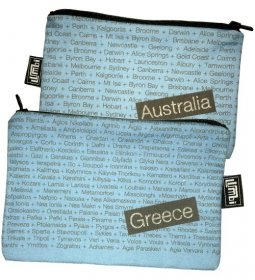 My Two Worlds Pencil Case 18x10cm Australia & Greece