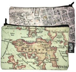 My Two Worlds Pencil Case 18x10cm Melbourne & Hong Kong