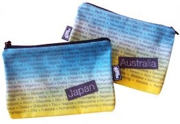 My Two Worlds Pencil Case 18x10cm Australia & Japan