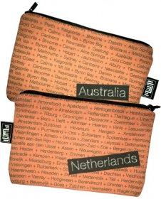 My Two Worlds Pencil Case 18x10cm Australia & Netherlands