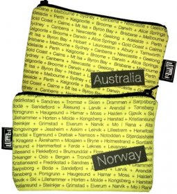 My Two Worlds Pencil Case 18x10cm Australia & Norway