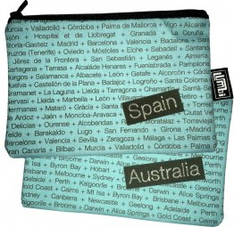 My Two Worlds Pencil Case 18x10cm Australia & Spain