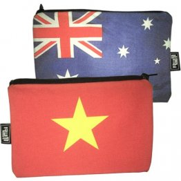 My Two Worlds Pencil Case 18x10cm Australia & Vietnam