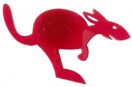Magnet Acrylic Kangaroo Fun Red