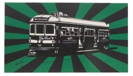 Magnet Flat Tram Sunrise Green