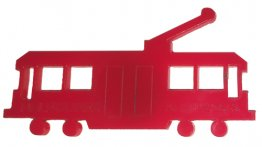 Magnet Acrylic Tram Fun Red