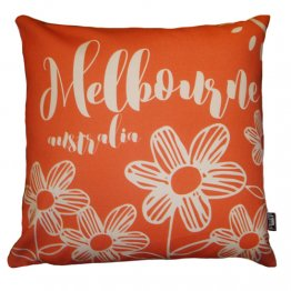 Cushion Melbourne Australia Red Flowers