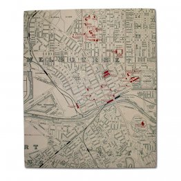Canvas Art 50x60cm Melbourne CBD Map 1890