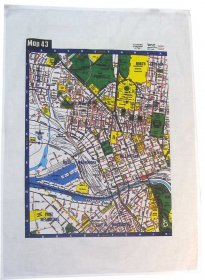 Tea Towel 50x70cm Linen/Cotton Melways Map 43