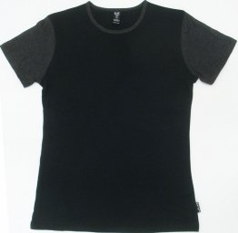 Unisex T-Shirt Black Blank with Charcoal Sleeves