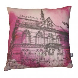 Cushion Mitchell Building Adelaide Watercolour Pink