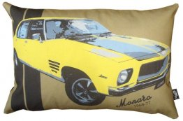 Cushion 50x30cm Monaro Yellow 1968-77