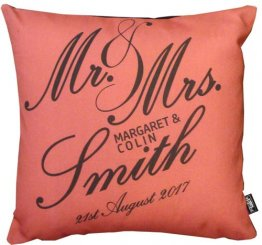 Mr and Mrs Script Red