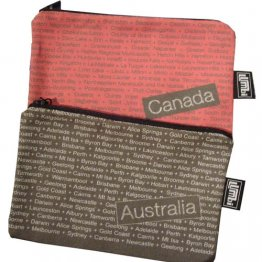 My Two Worlds Pencil Case 18x10cm Australia & Canada