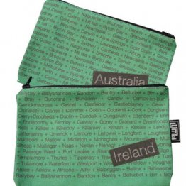 My Two Worlds Pencil Case 18x10cm Australia & Ireland