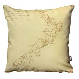Cushion New Zealand Map 1770