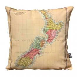 Cushion New Zealand Map 1870