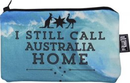 Pencil Case 18x10cm I Still Call Australia Home Wave