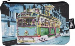 Pencil Case 18x10cm Chapel St Tram Blue