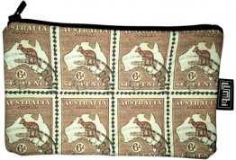 Pencil Case 18x10cm Kangaroo Stamps