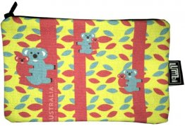 Pencil Case 18x10cm Koala Fun Yellow