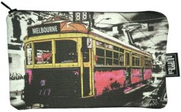 Pencil Case 18x10cm The Lucky Tram Red