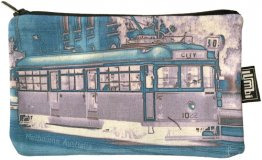 Pencil Case 18x10cm Tram Neg Aqua