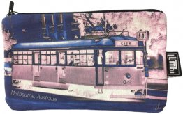 Pencil Case 18x10cm Tram Neg Blue