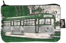 Pencil Case 18x10cm Tram Neg Green