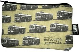 Pencil Case 18x10cm Trams Coffee