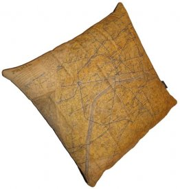 Cushion Plan de Paris Map