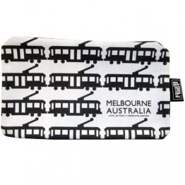Pencil Case 18x10cm Omni Tram White