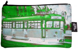Pencil Case 18x10cm Neon Green Tram