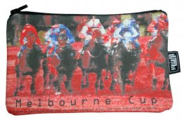 Pencil Case 18x10cm Melbourne Cup Red